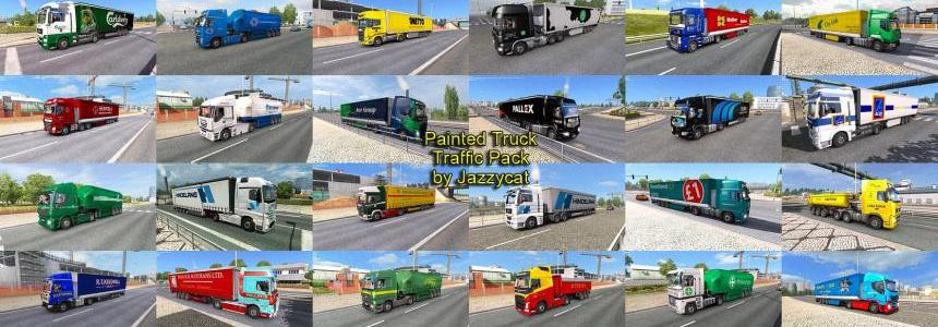 Painted Truck Traffic Pack by Jazzycat  v2.2