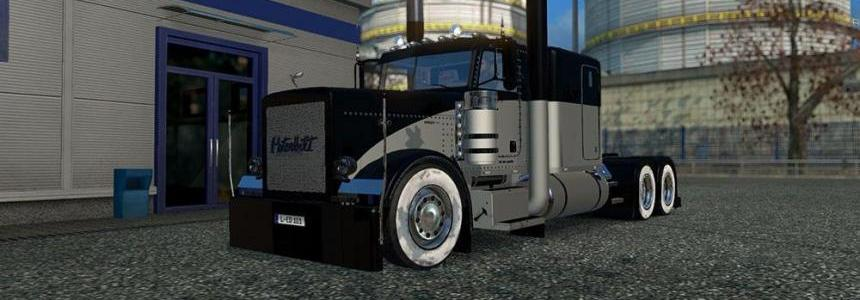 Peterbilt 389 modified Black Silver Skin