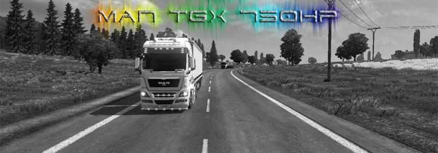 Renault Magnum Sound for MAN TGX 750 hp (SP/MP)