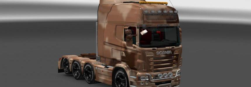 Sand Camouflage Skin for Scania RJL