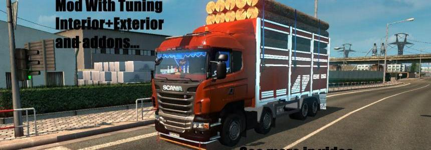 Scania 8x4 Camion and Truck+Addons