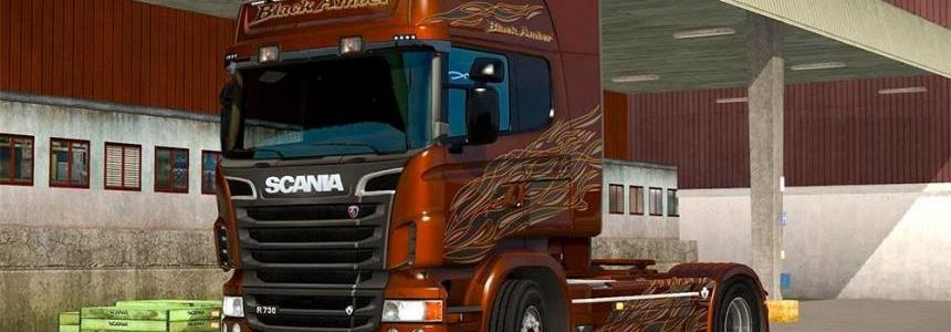Scania Black Amber Limited Edition metallic skin