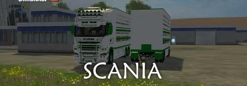Scania cattle trailer v1.2 mit Jungtieren
