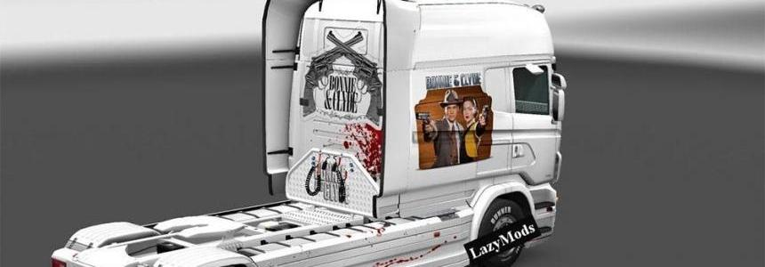 Scania RJL Longline Bonnie And Clyde Skin