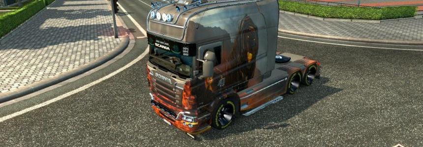 Scania RJL Longline Volkano Tiger Skin