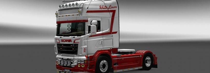 Scania RJL White Liner Skin