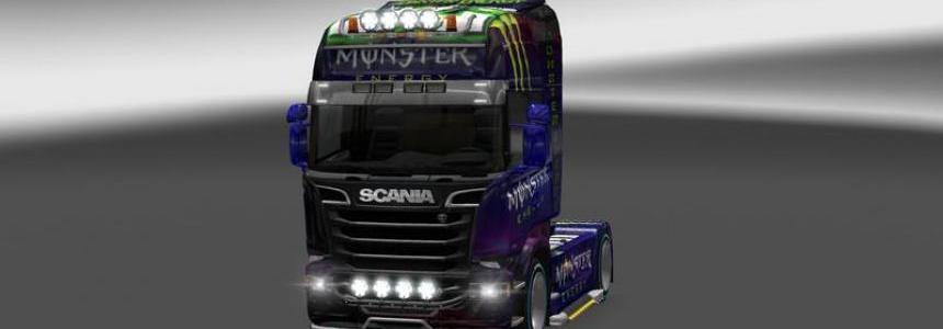 Scania Streamline Monster Energy Drink v1.19.x