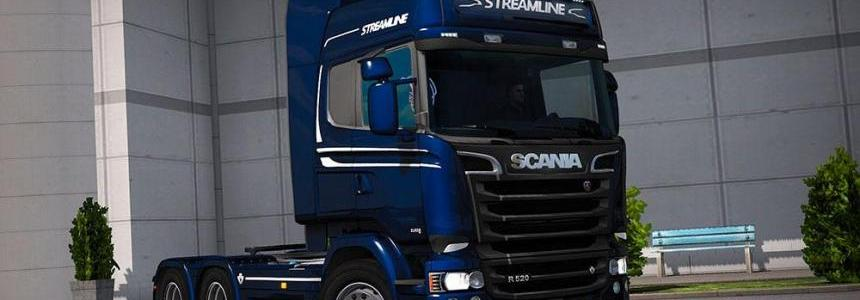 Scania Streamline (RJL) Blue Ocean Metallic Skin