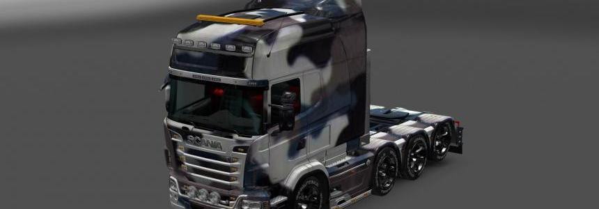 Simple Snow Camouflage Skin for the Scania RJL