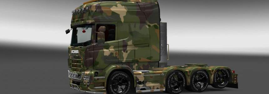 Soil Camouflage Skin for Scania RJL