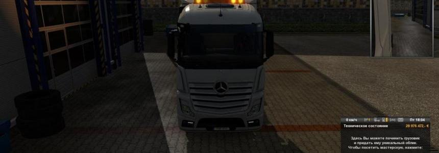 Warning light for Mercedes Actros 2014