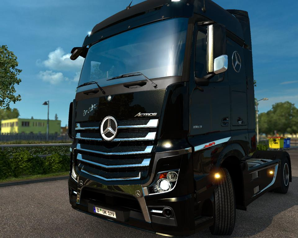 chrome kit brutale for mercedes actros mp4 v2. Black Bedroom Furniture Sets. Home Design Ideas