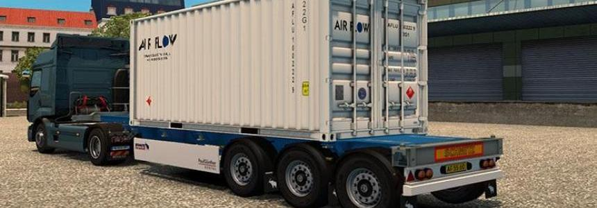 4 Trailer Container 20 ft Real Skin v1.0
