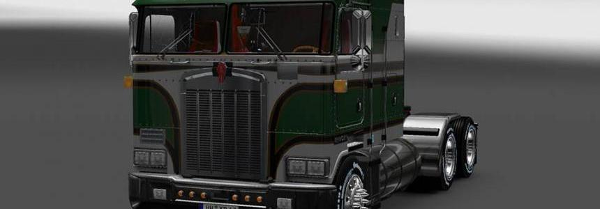 Green and white Kenworth k100 6x4 + 4x2 v5.0