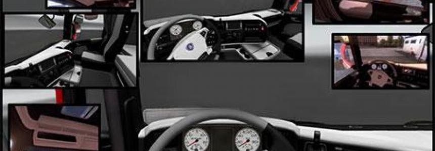 Black White Scania R Interior 1.21