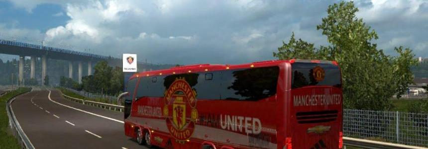 Bus Macropolo G7 1600LD Manchester United Skin