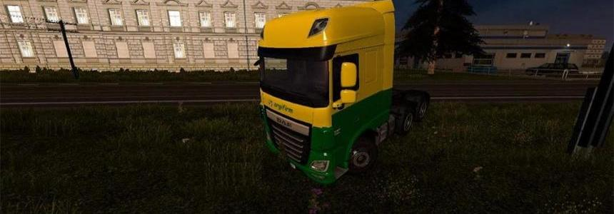 DAF xf euro 6 agrifirm skin all cabs