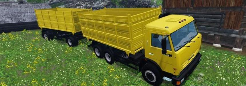 Kamaz 45143 Truck and Trailer v1.0