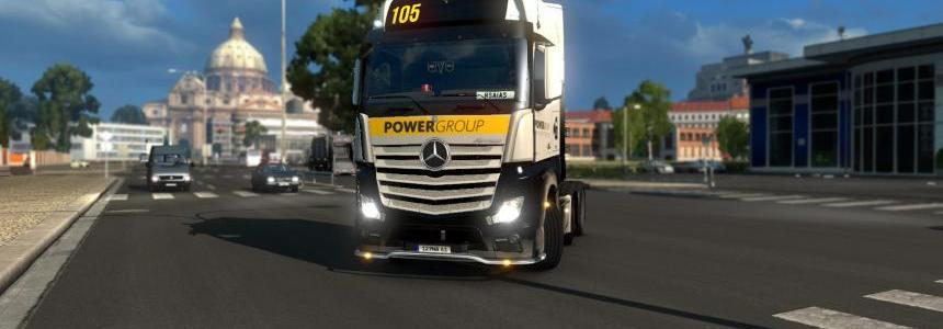 MB Actros 2014 skin Power Group v1