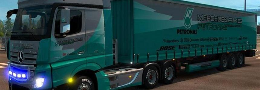 Mercedes Actros MP4 Petronas F1 Combo Pack v1
