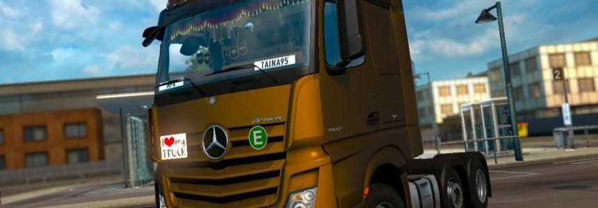 Mercedes Actros MP4 v1.6 + Cabin Accessories DLC