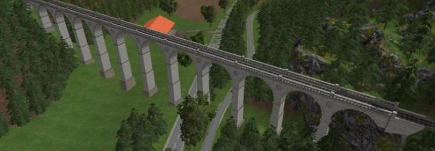 Modular viaduct for railway v1.0