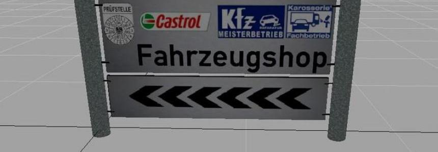 Panels signs for Mapbau v1.0 Alu schwarz