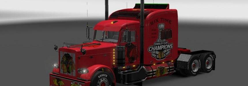 Peterbilt 389 Chicago Black Hawks Skin
