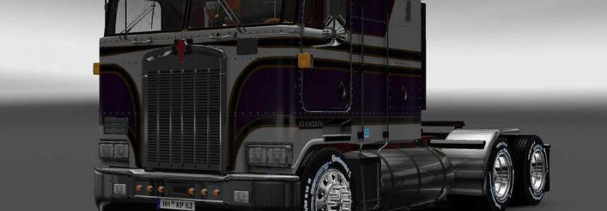 Purple and white Kenworth k100 6x4 + 4x2 v5.0