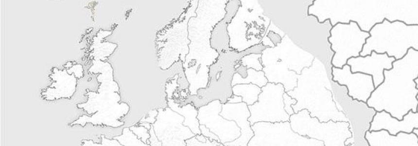 Road Atlas Map Background ETS2