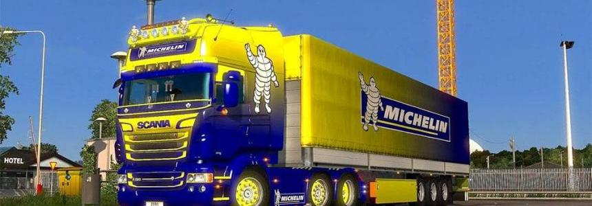 Scania R & Streamline (RJL) MICHELIN Combo skin pack