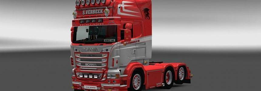 Scania RJL S.Verbeek Skin v1.0
