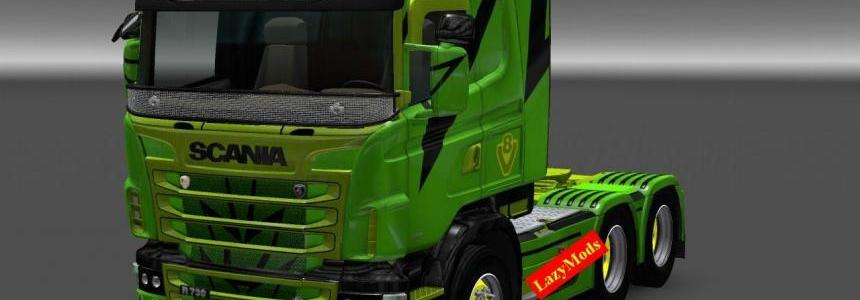 Scania RJL V8 Metallic Lightning Skin