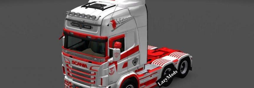 Scania RJL V8 Orange Skin