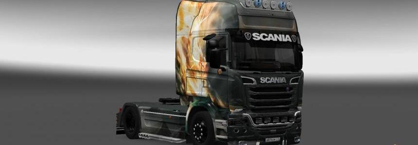 Scania Streamline Fire Dragon Skin