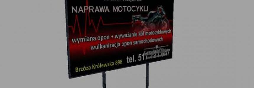 Tablica Serwis Motocyklowy