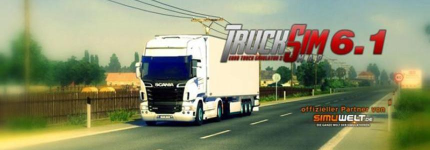 TruckSimMap 6.1.1 for patch 1.21.x