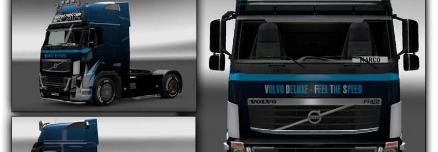 Volvo FH16 Skin BlueBlack 1.21.x