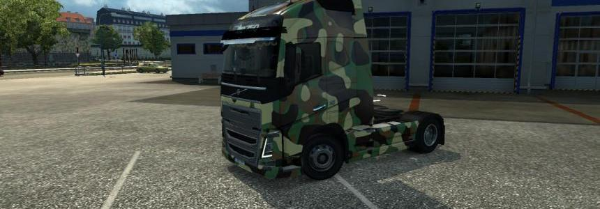 Army Skin for Volvo FH16 2012 1.21