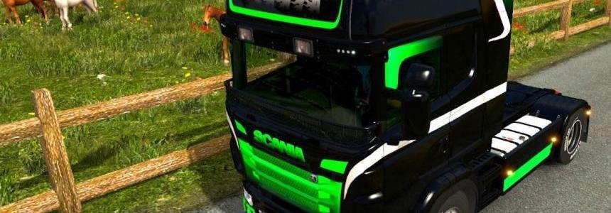 Black & Green Gradient for Scania RJL