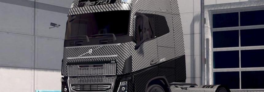 Carbon Fiber skin for Volvo FH 2012 and ohaha's v1