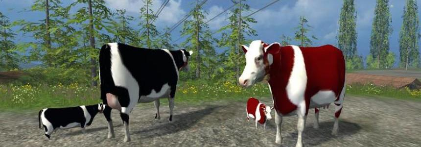 Cow family Placeable with Sound v1.0