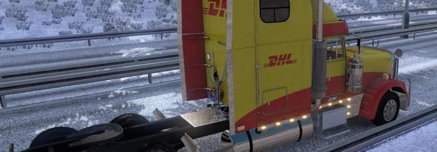 DHL skin for Freightliner Classic XL