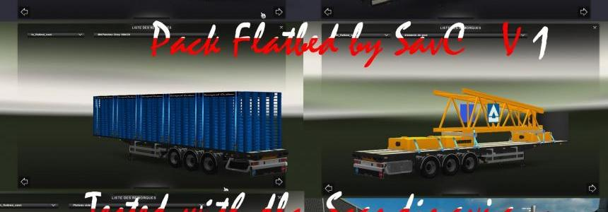 Flatbed Trailers Pack updated