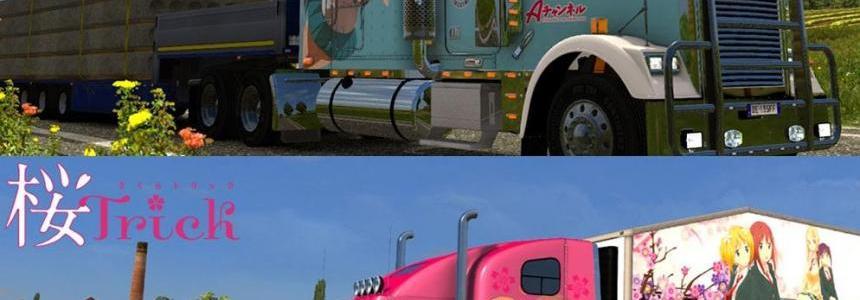 Freightliner Classic XL Anime Skin Pack v1.0