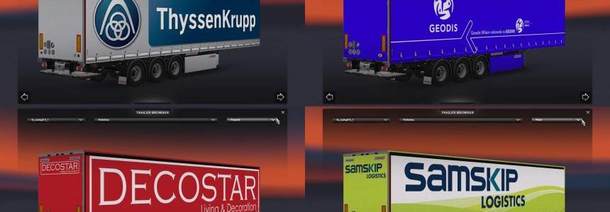 Fruehauf Maxispeed New Trailers Skin Pack