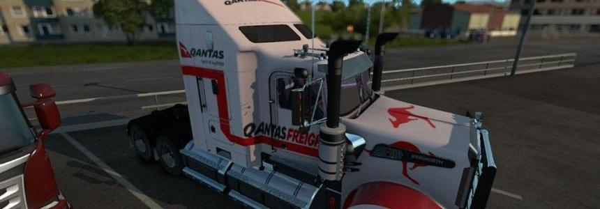 Kenworth T908 Qantas Freight Skin