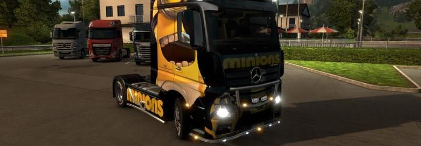 Minions Mercedes Benz Actros New v1.0