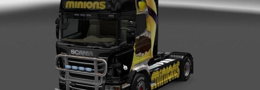 Minions Scania R 2009 Skin v1.0