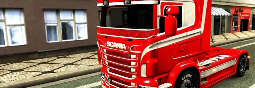 Orange & White skin for Scania RJL